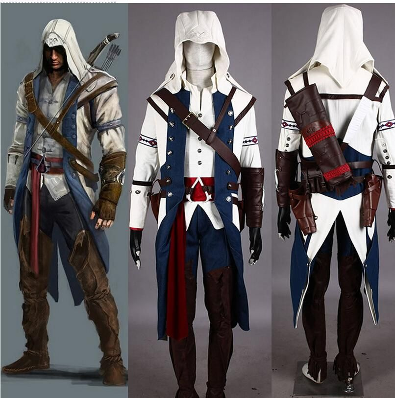 Free Shipping Halloween Costumes For Men Assassin S Creed 3 Connor