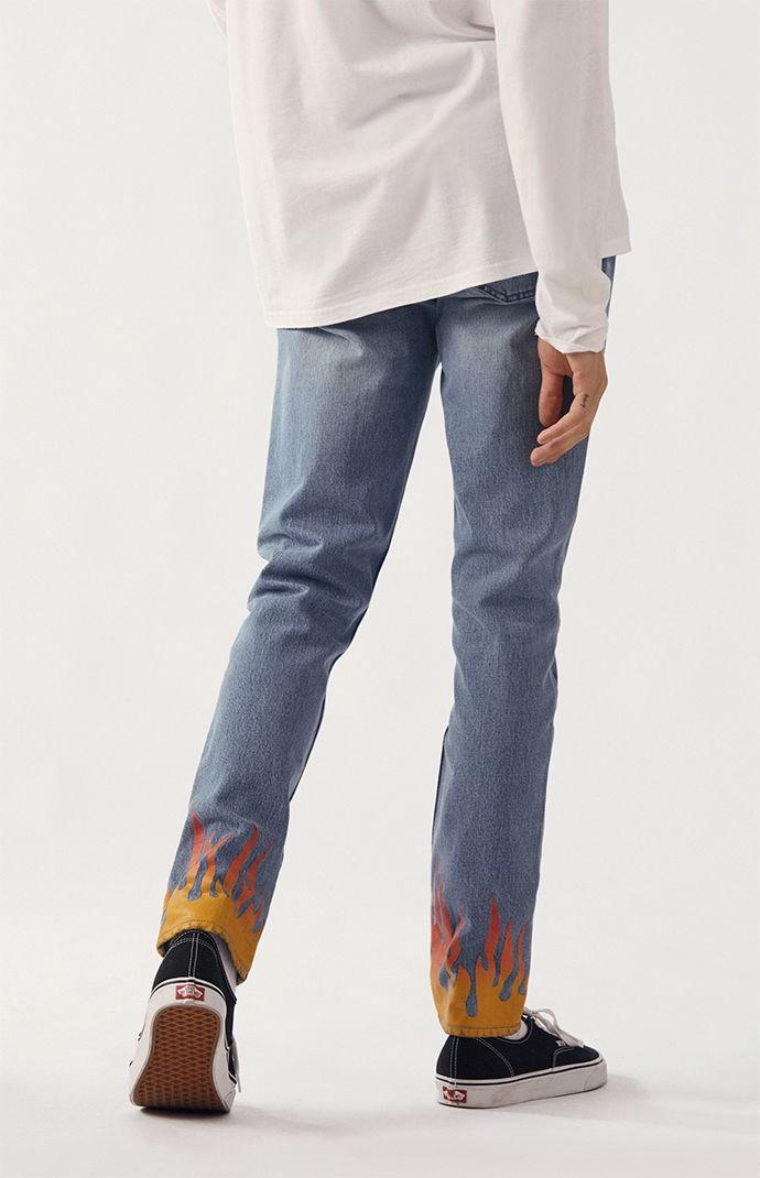 103ae3da3f22 Pacsun Skinny Flame Print Jeans - 30W X 32L   Products   Jeans ...