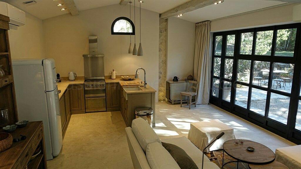 Superbe decoration loft bastide style campagne chic avec cuisine