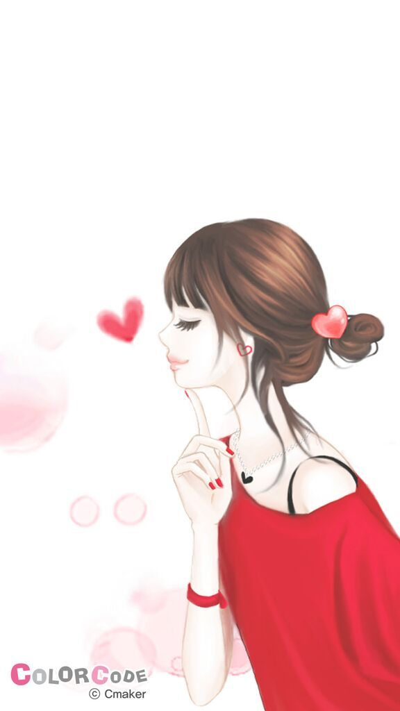 Red Color Girl Jpg Cute Girl Wallpaper Anime Art Girl Cute Drawings