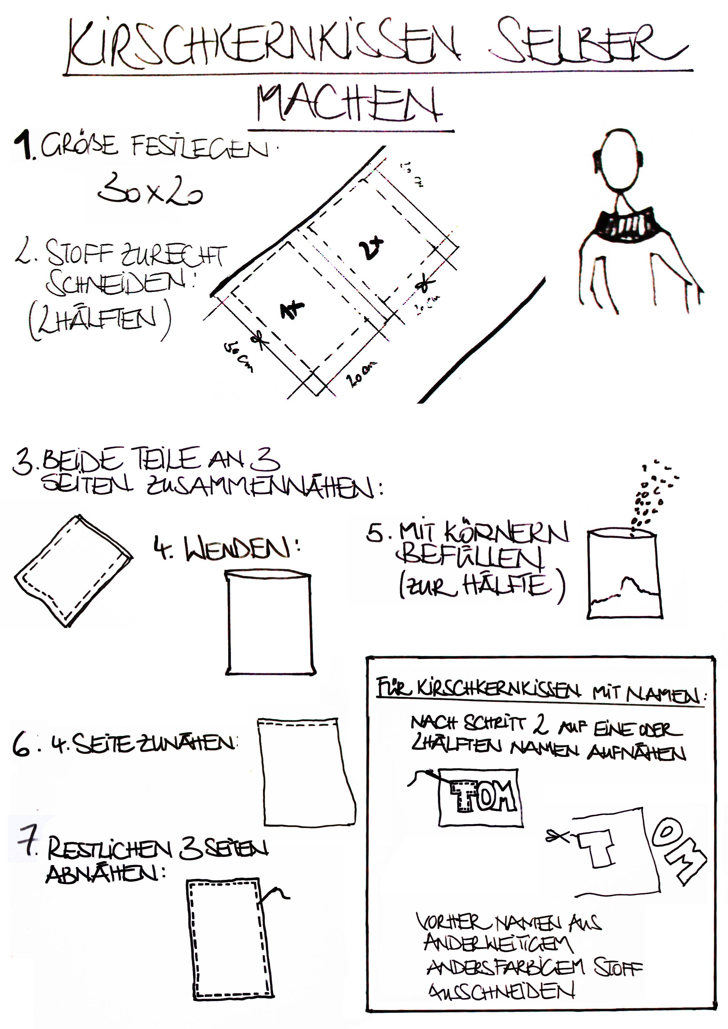 kirschkernkissen selber machen diy pinterest kirschkernkissen selber machen. Black Bedroom Furniture Sets. Home Design Ideas