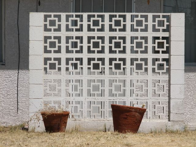 Amazing Mid Century Cement Blocks