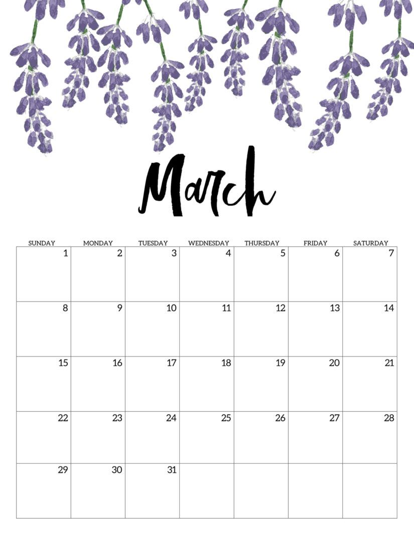 30 March 2020 Calendars You Can Download and Print in 2020 | March