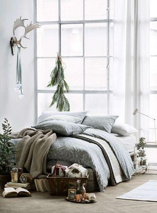 Julfint i sovrummet