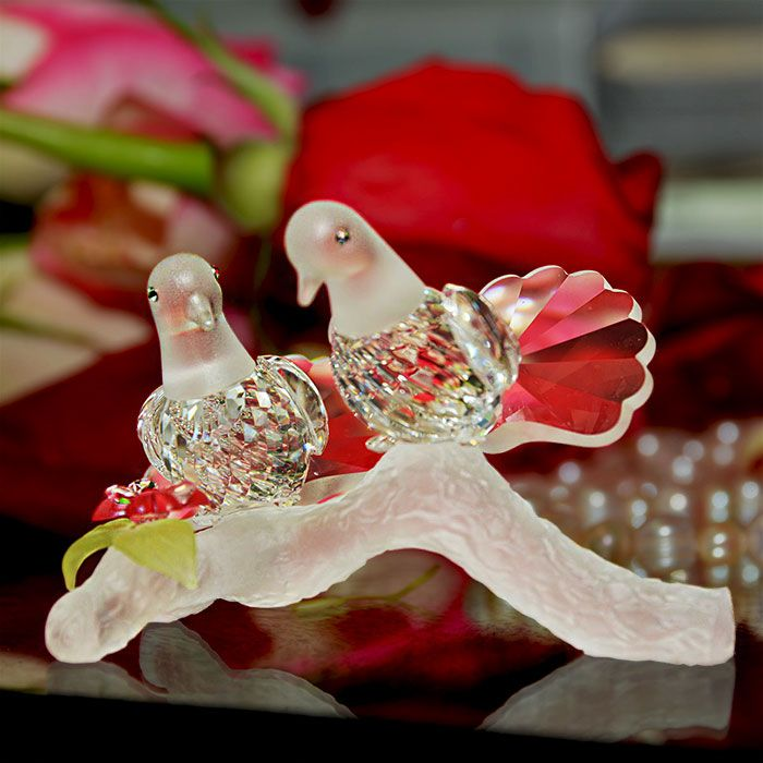 wedding anniversary gifts | crystal love doves made of the finest ...