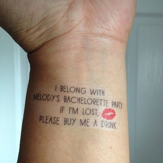 10 bachelorette party temporary tattoos buy me a drink for Bachelorette party tattoos