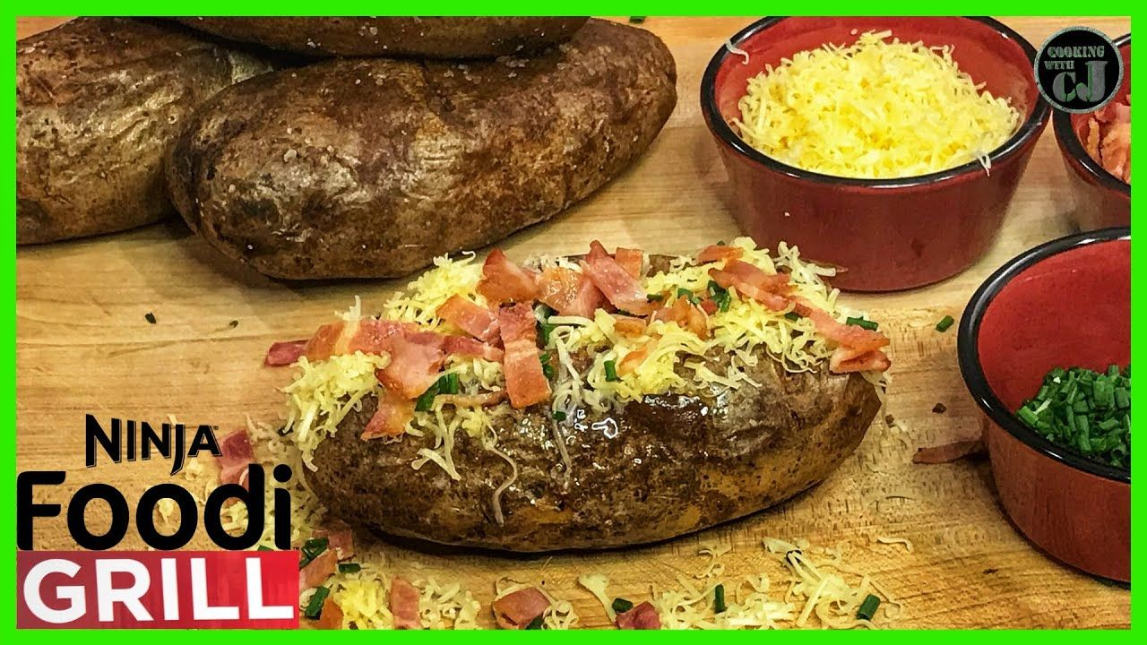 Ninja Foodi Grill Baked Potato Ninja Foodi Grill Recipes Baked Potato How To Youtube Grilled Baked Potatoes Recipes Baked Potato