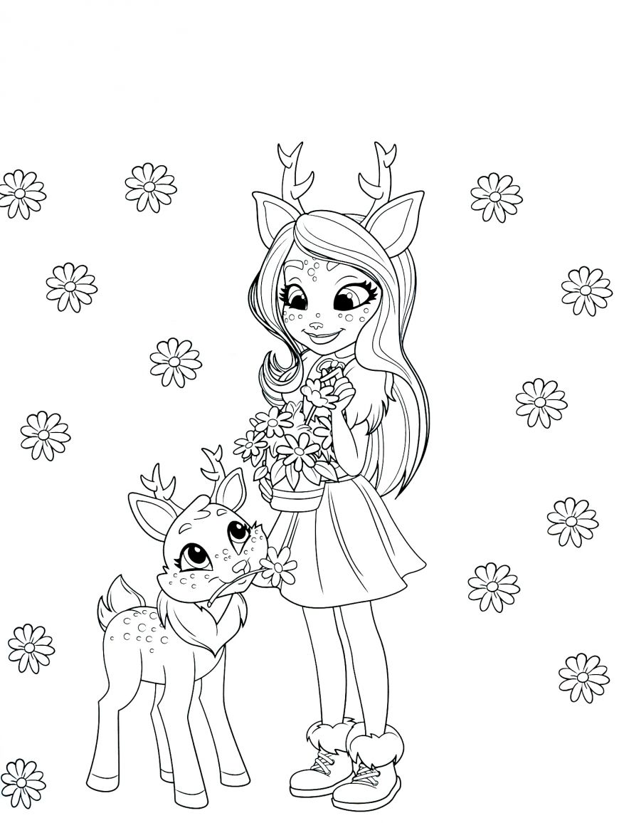 Enchantimals New Free Printable Coloring Pages Unicorn Coloring Pages Disney Coloring Pages Love Coloring Pages