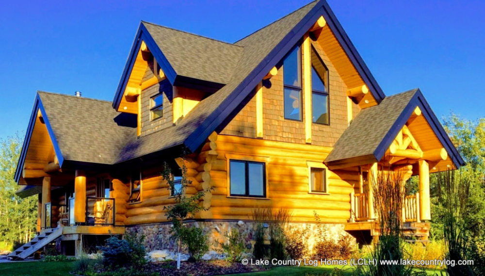 Douglas Fir Handcrafted Log Cabin Home Alberta Canada Lclh Rustic Home Design Rustic House Log Homes