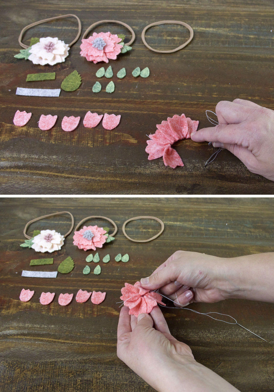 How To Make A Felt Flower Headband » Jessie K Design