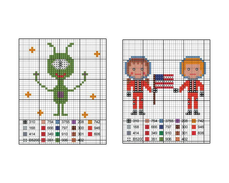 cross stitch chart 2 | КОСМІЧНІ ФАНТАЗІЇ | Pinterest