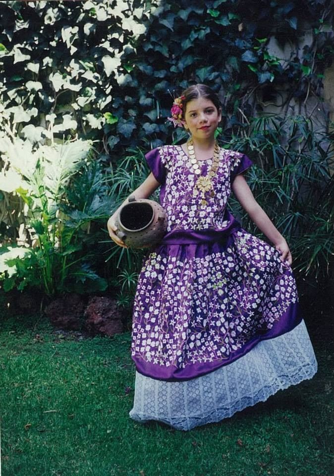 Tehuana de niña, tehuana dress. Mexican folklore | México ...