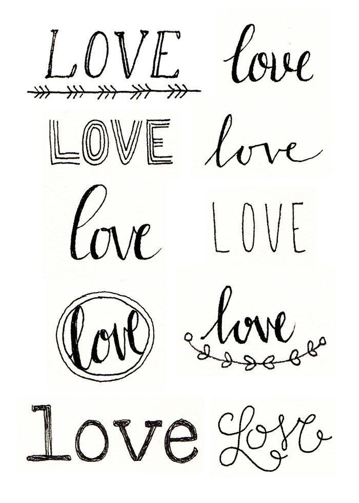 Different ways to write love