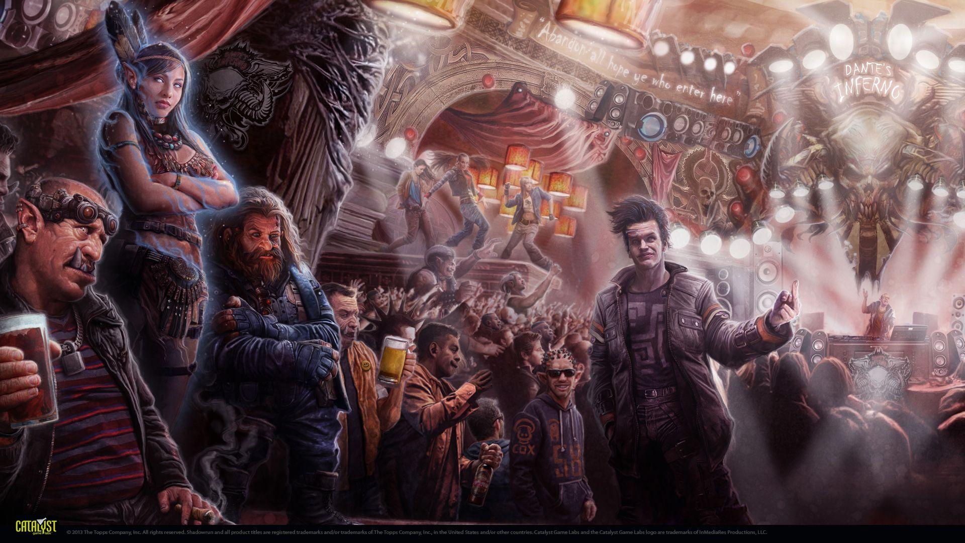 Wallpapers Shadowrun 5 Shadowrun Cyberpunk Illustration