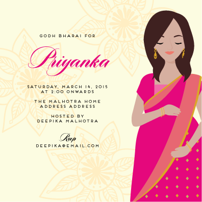 indian baby shower invitations  baby bounty  test, Baby shower