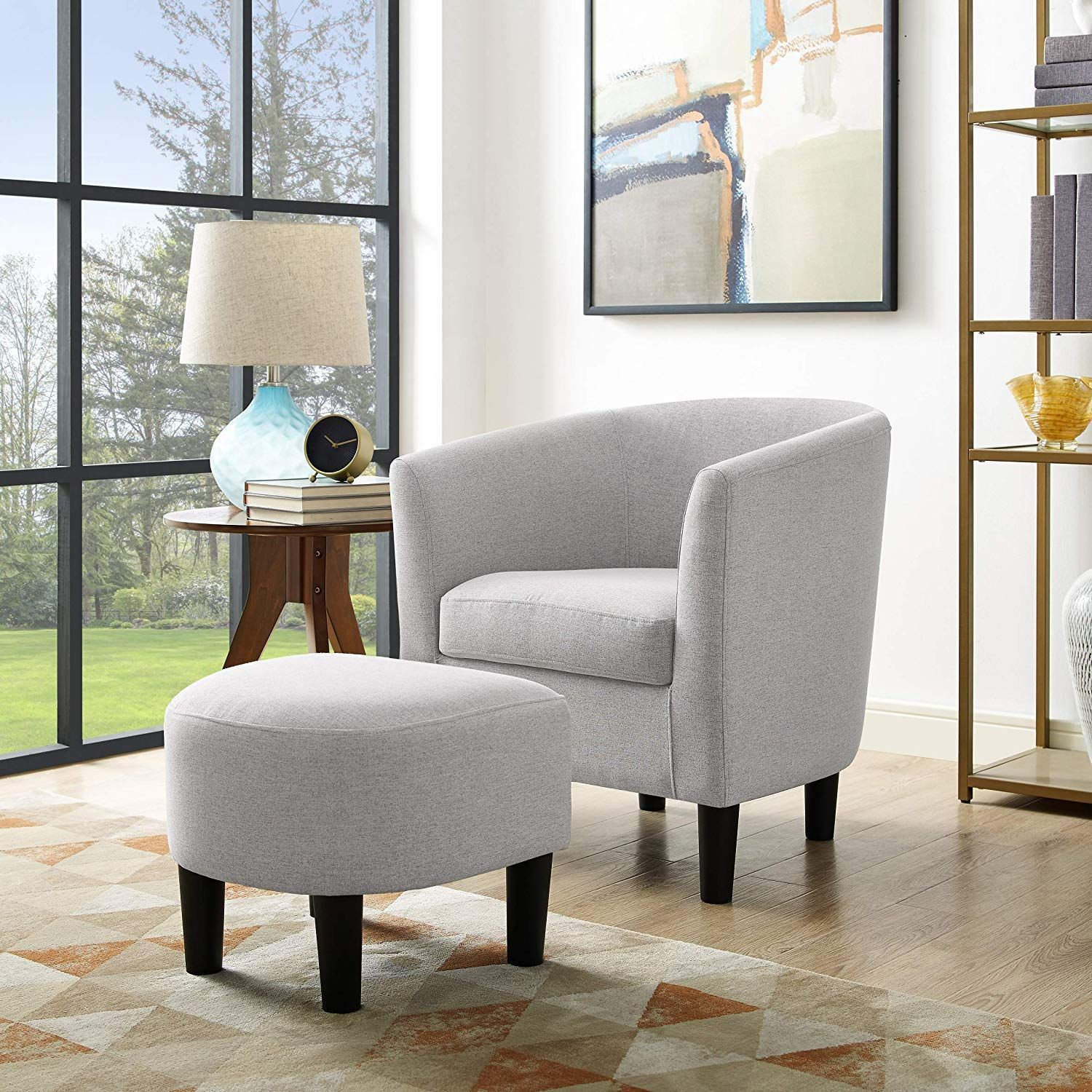 Dazone modern accent chair upholstered comfy arm chair