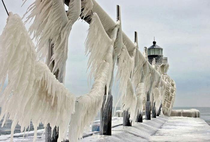 St.Joseph lighthouse on lake Michigan