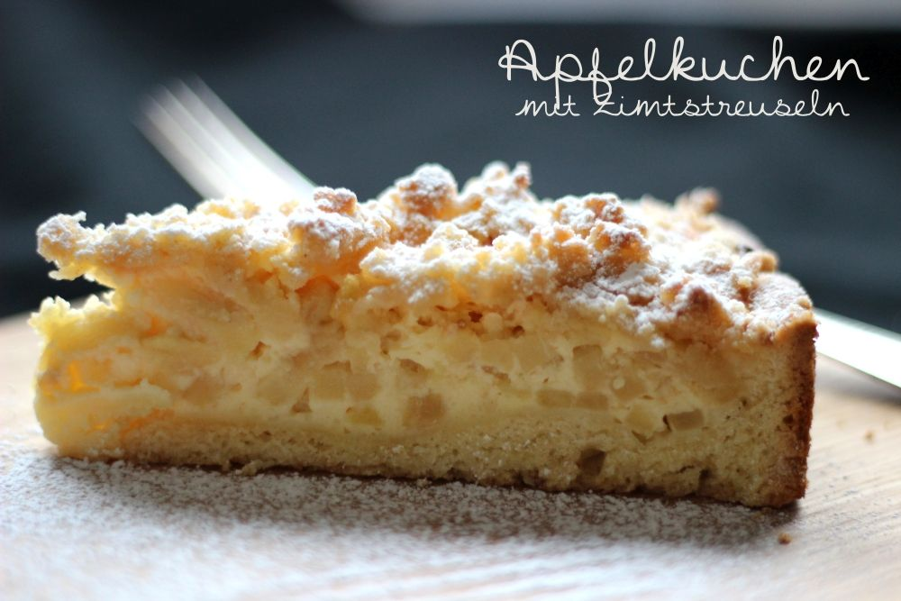 Apfel Pudding Streusel