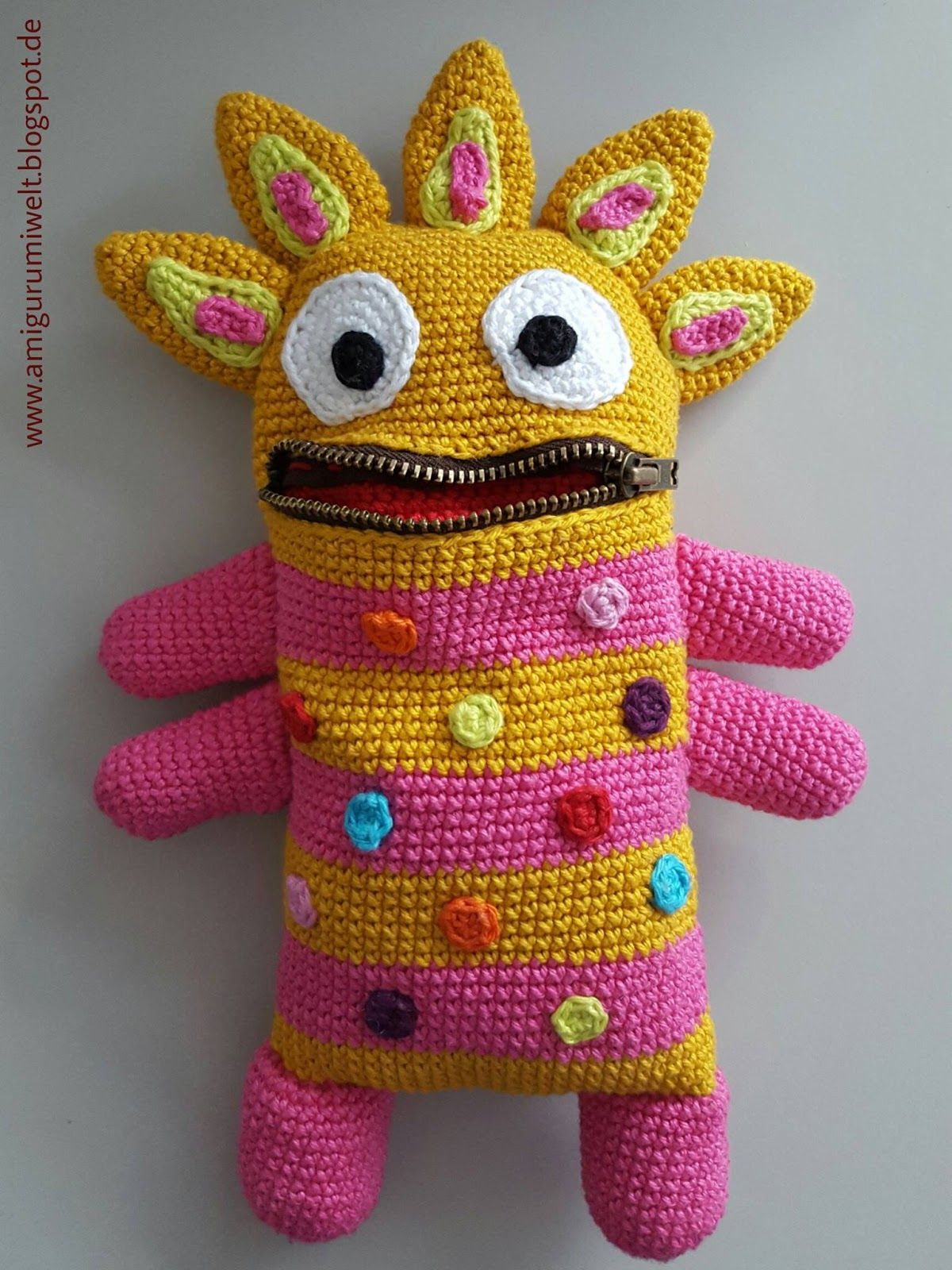Amigurumi, häkeln, crochet, kostenlos, free, monster | Hracky ...