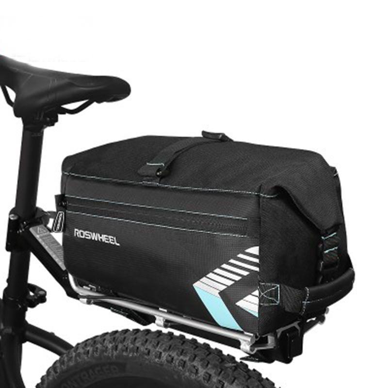 Roswheel Cycling Bag Rear Bike Bicycle Pannier Seat Tail Bag Rack Trunk Shoulder