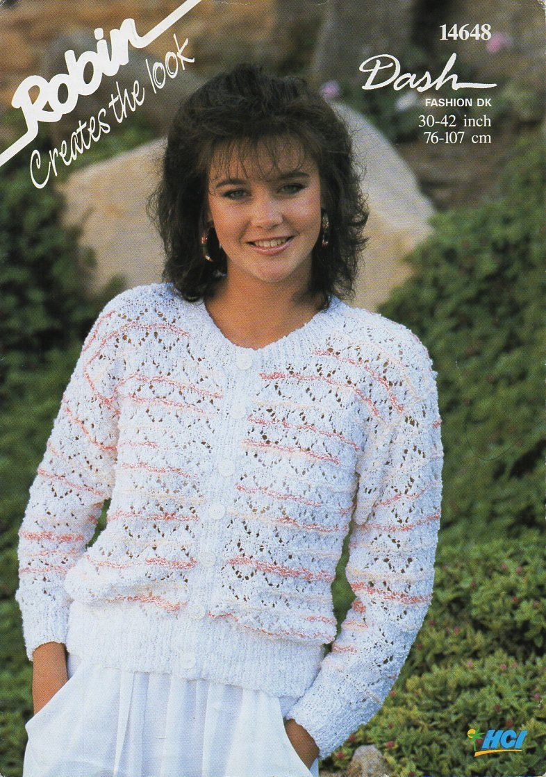 KNITTING PATTERN Women/'s Short Sleeved Cardigan 4 Ply 32-40 inches 81-102 cm