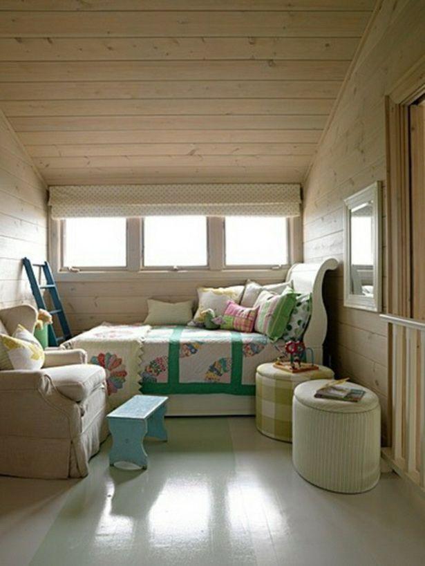 einrichtungsideen dachschräge  kleines schlafzimmer