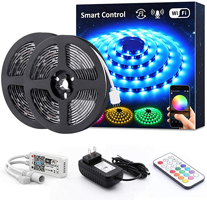Amazon Com Novostella Smart Rgb Led Strip Lights Kit 20ft Wireless Flexible Color Changing 5050 Leds Rgb Led Strip Lights Led Strip Lighting Strip Lighting
