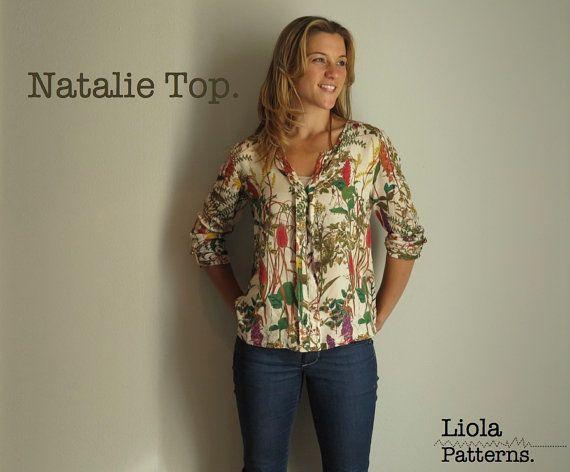 Natalie Top PDF sewing pattern