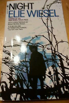 Night by Elie Wiesel (1982, Paperback) Holocaust Memoir
