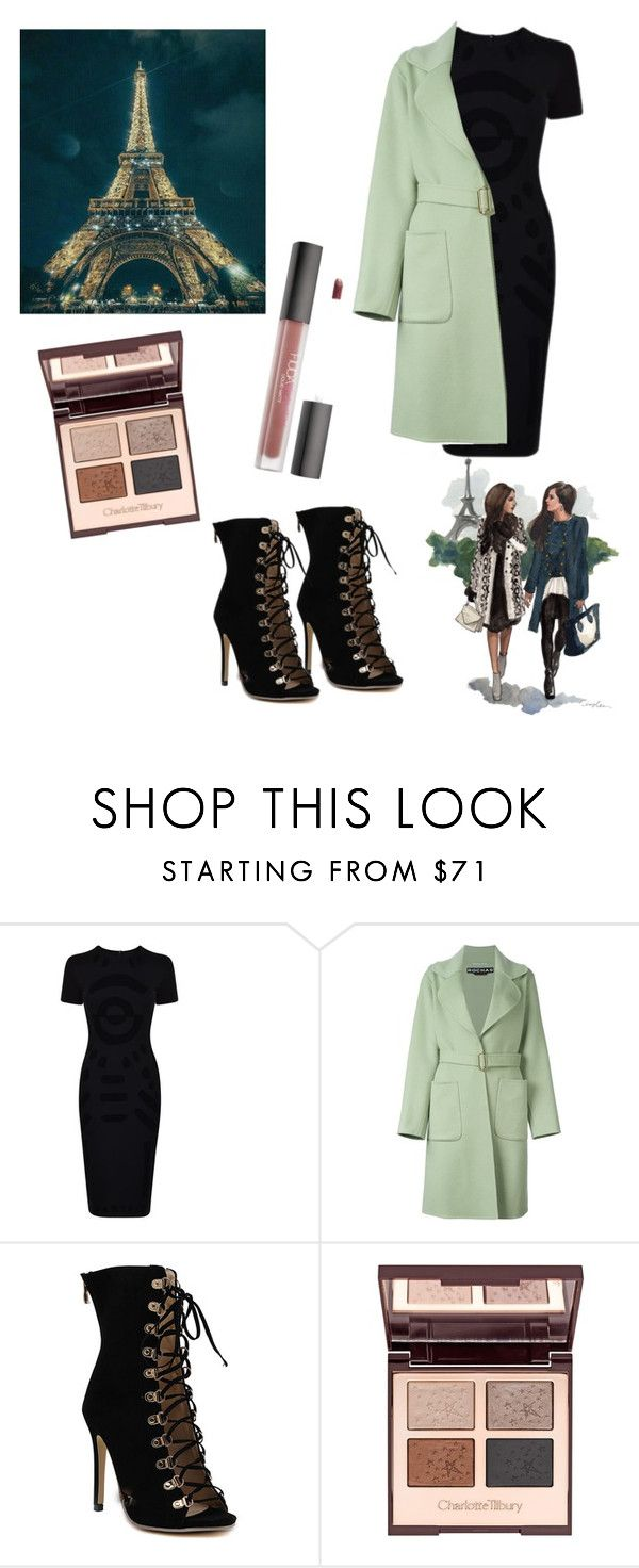 """""""🗼"""" by arina-bianca ❤ liked on Polyvore featuring McQ by Alexander McQueen, Rochas, Charlotte Tilbury and Huda Beauty"""