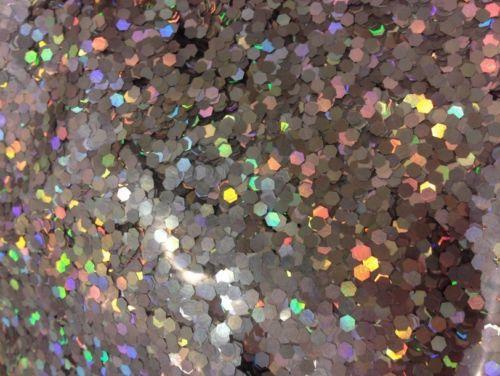 1 lb Silver Hexagon Bulk Glitter Solvent Resistant Nail Polish Indie Franken | eBay