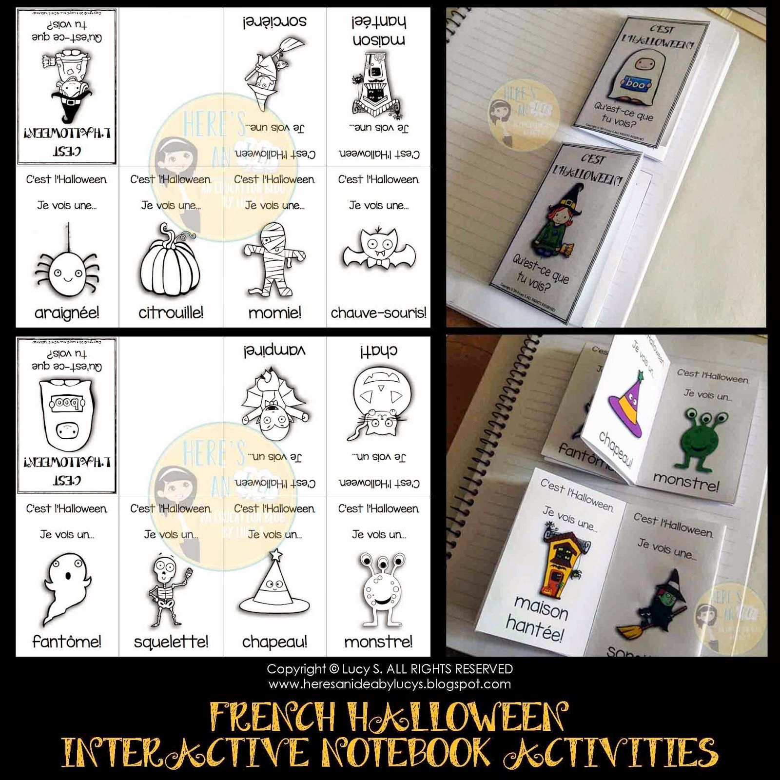 French Hallowen Lapbook | ideas for school | Pinterest