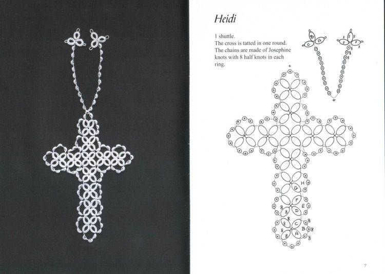 Gallery.ru / Фото #6 - Tatted Bookmarks~cross-shaped - mula