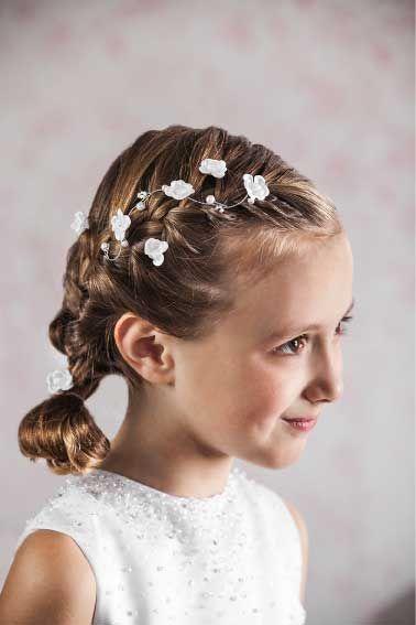 acconciature capelli corti Acconciature Della Ragazza Dei Fiori,  Acconciature Per Il Matrimonio, Prima Comunione