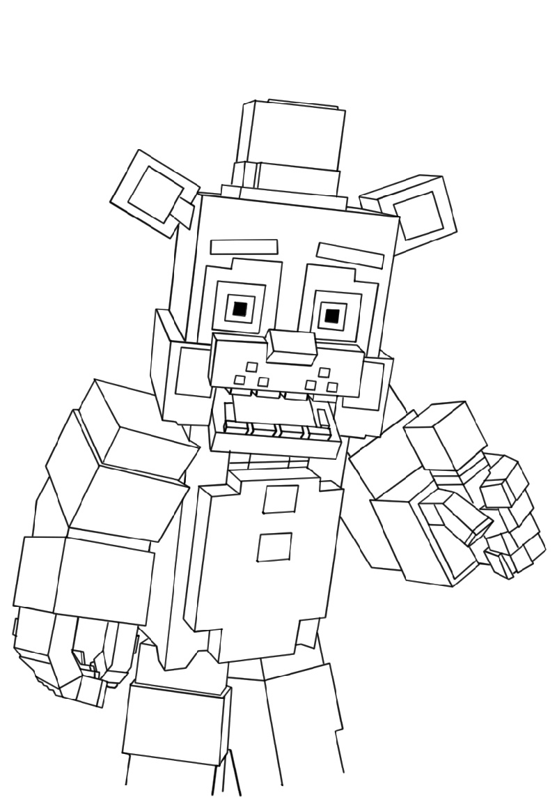 Fnaf Coloring Book for 2019 K5 Worksheets in 2020