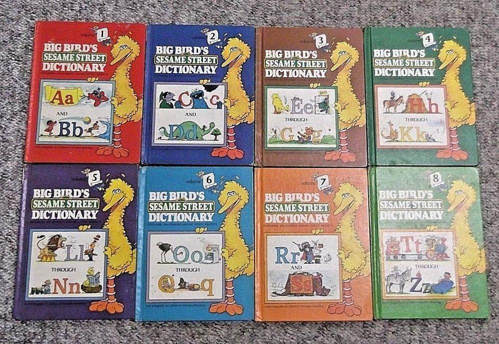 Big Birds Sesame Street Dictionary Vintage Set Volumes 1 8