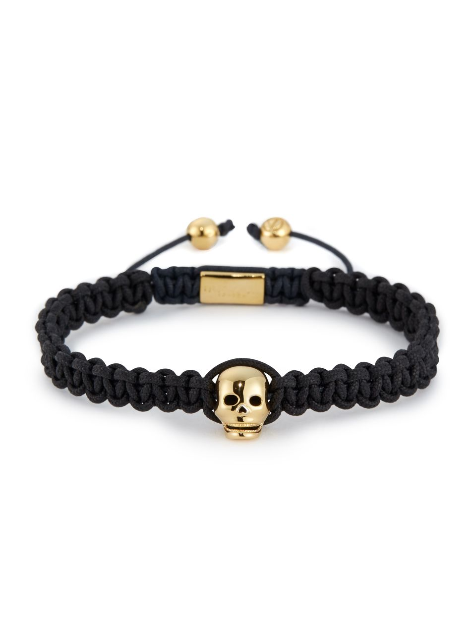 for skull genuine north stainless men women bangle steel leather gold northskull braided mens black bracelet product