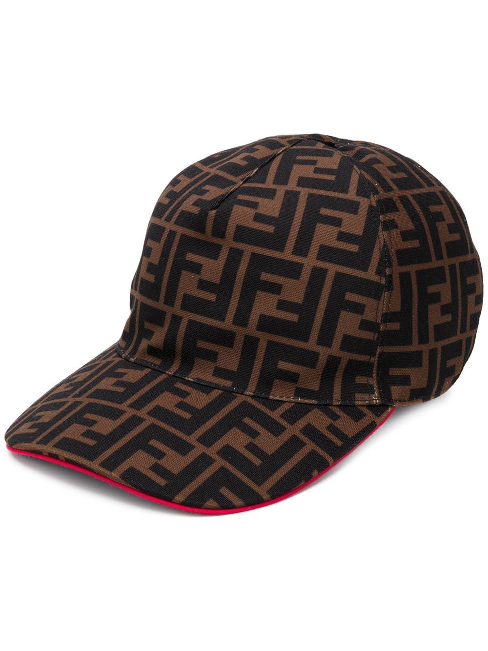 FENDI LOGO HAT - BROWN  084222a1df49