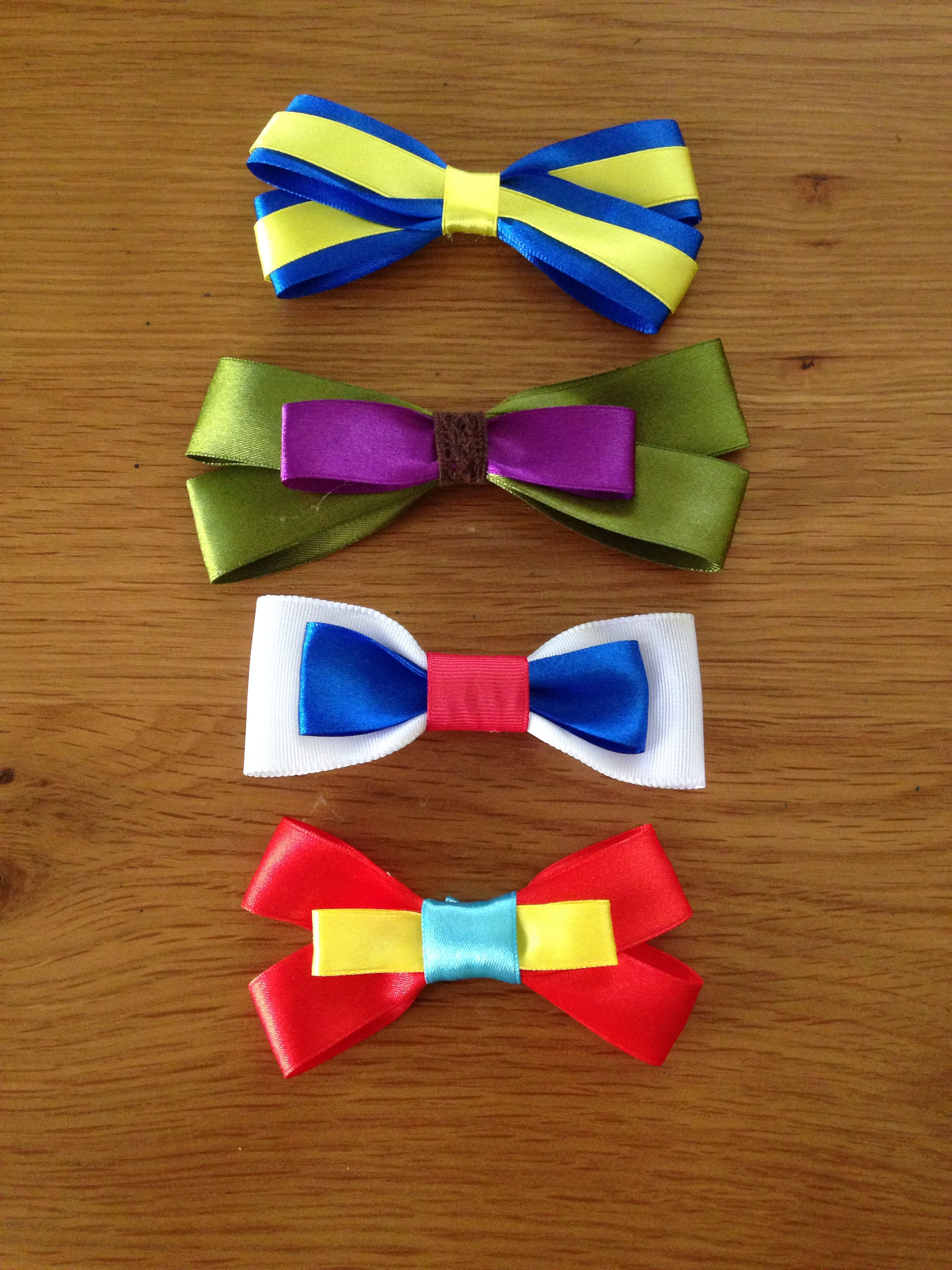 Marvel bows. X-men, Hulk, Captain America, Iron Man.