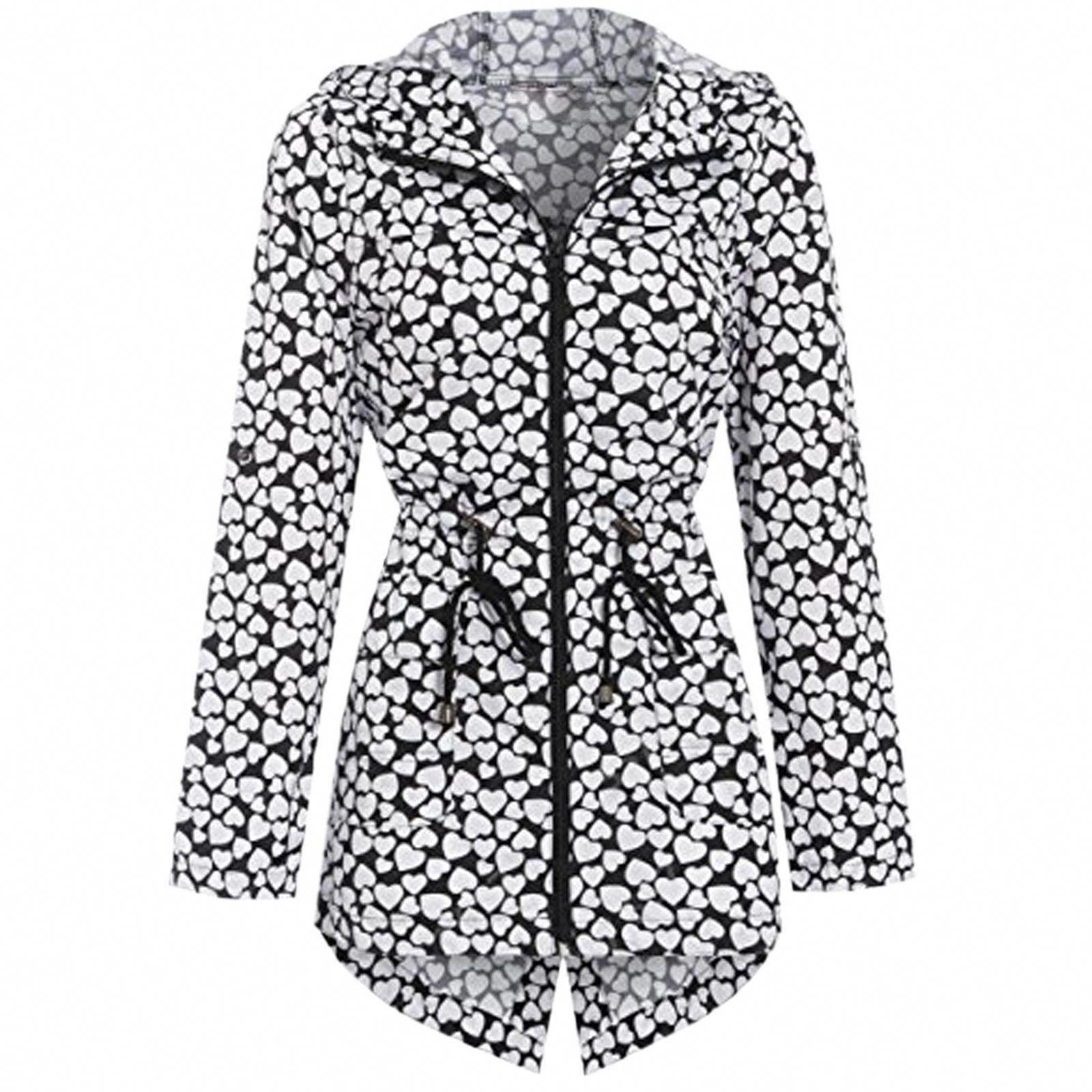 e510f9e0022 Ladies Women Girls Rain Mac Raincoat Showerproof Fishtail Cagoule Kagool  Festival Parka Jacket Hooded Lightweight Coat Plus Big Sizes 8-24   Amazon.co.uk  ...