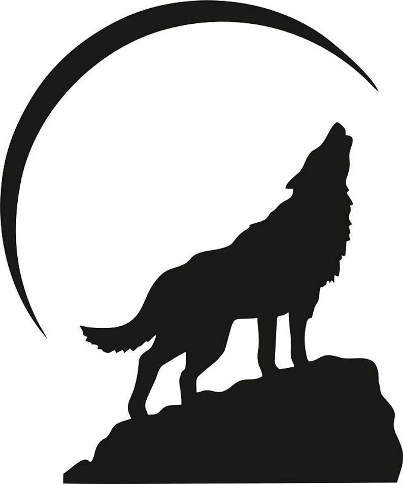 49+ Wolf howling clipart black and white info