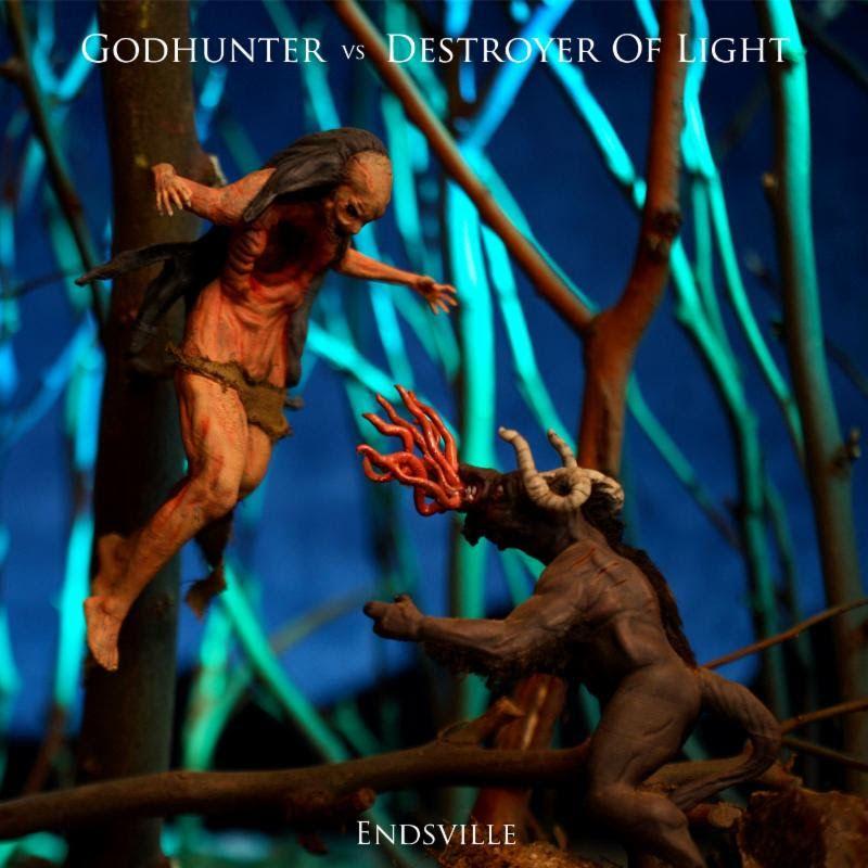 Godhunter Vs Destroyer Of Light Endsville Cover Art Creation Feature Hosted By Gear Gods Cover Art Music Blog Forever Me