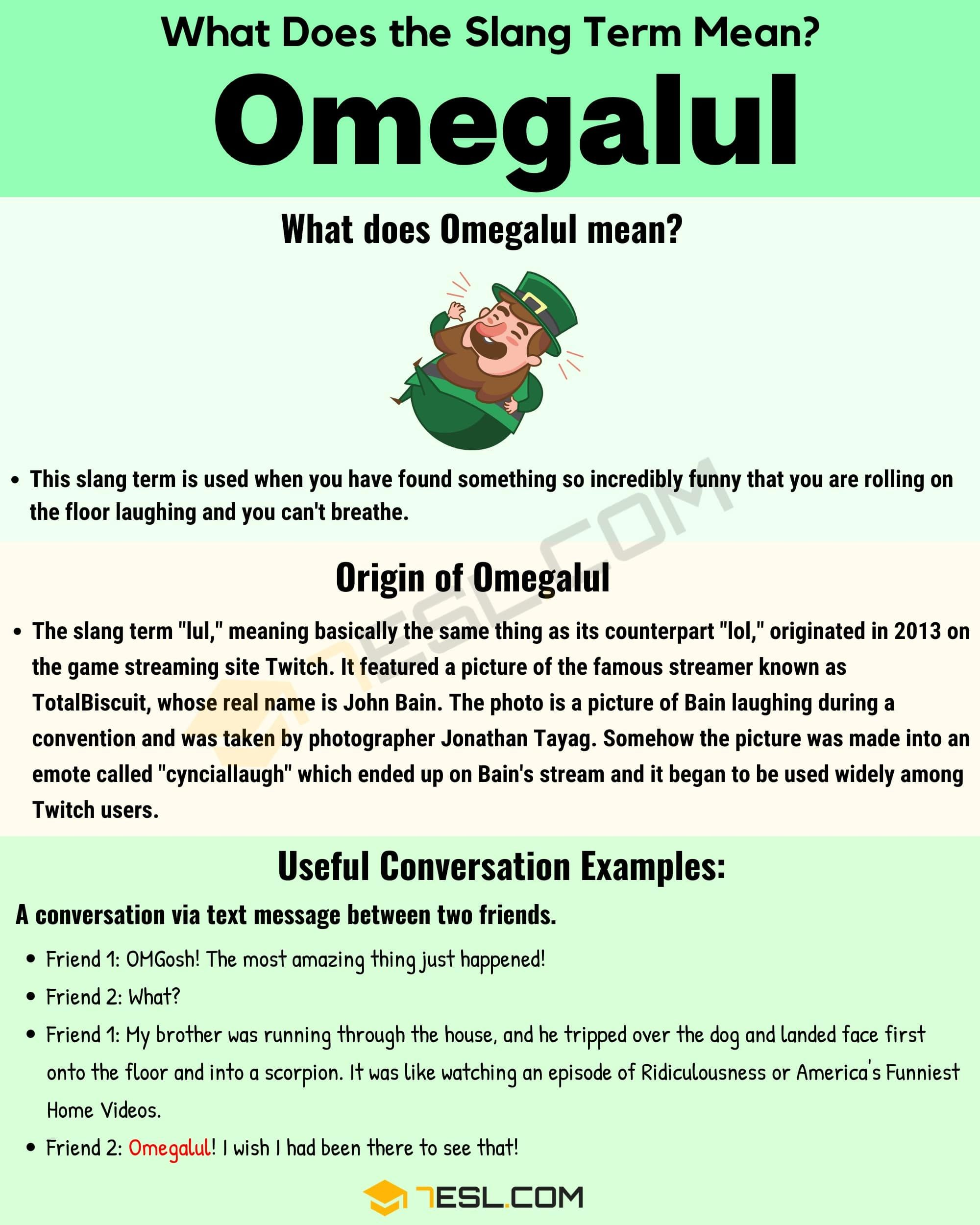 Omegalul Meaning With Useful Conversation Example In English 7esl Old Quote Lesson Know Definition Of Paraphrase Language