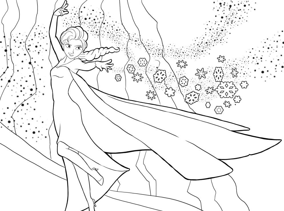 frozen strength coloring page | Grandkids birthday ideas ...