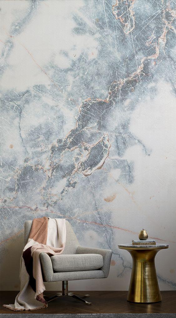tiefes blau wolkenartiges marmor wandtapete interior pinterest tapeten wandmalerei und haus. Black Bedroom Furniture Sets. Home Design Ideas