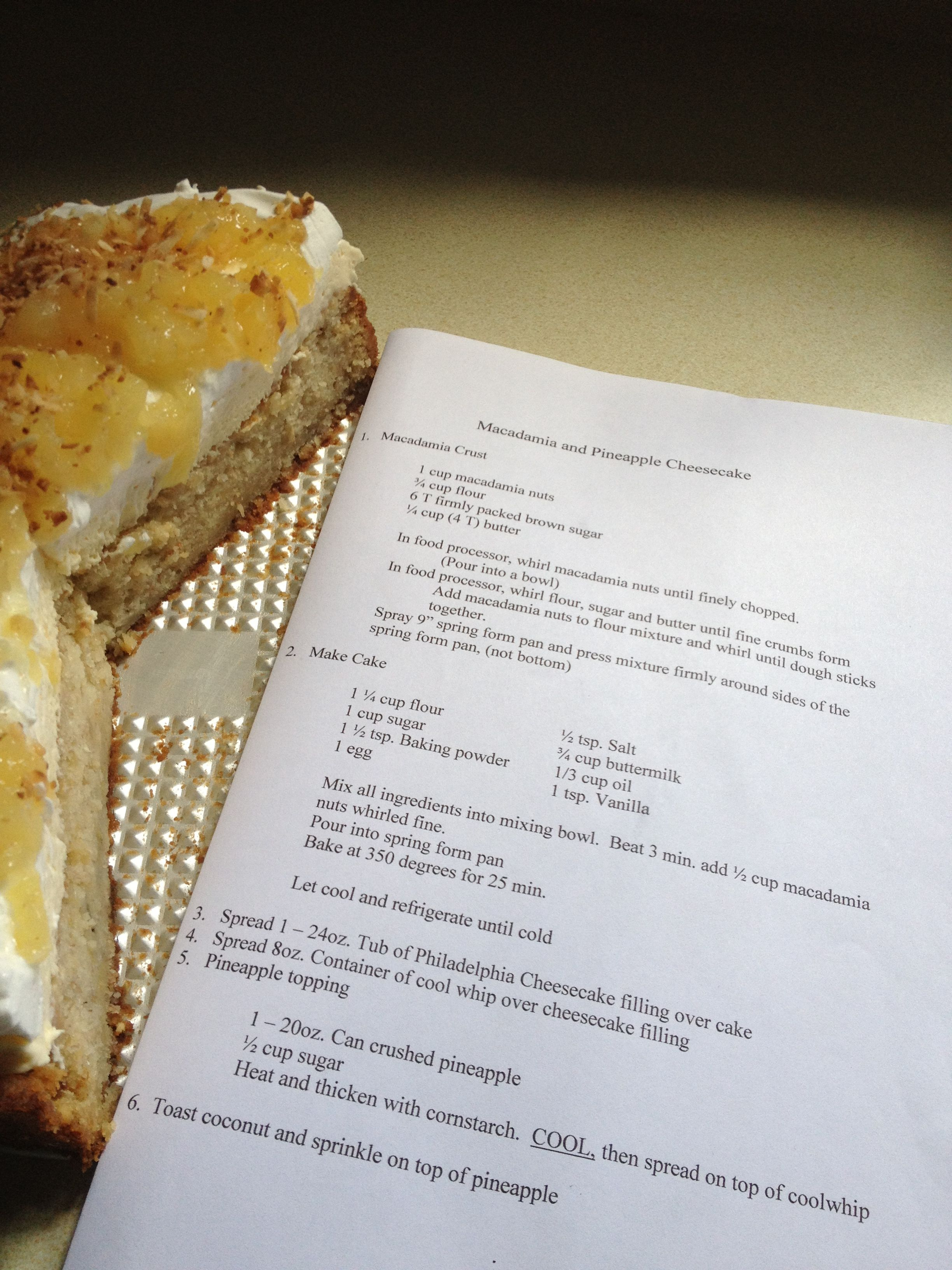 3bf62344ec4ee MY VERSION OF TEDS BAKERY MACADAMIA NUT AND PINEAPPLE CHEESECAKE FROM THE NORTH  SHORE OF OAHU