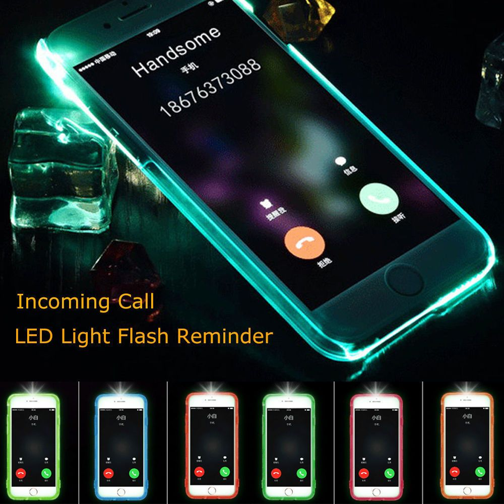 info for 6c602 e3ad9 LED Flash Light UP Remind Incoming Call Cover Case Skin For iPhone 6 ...