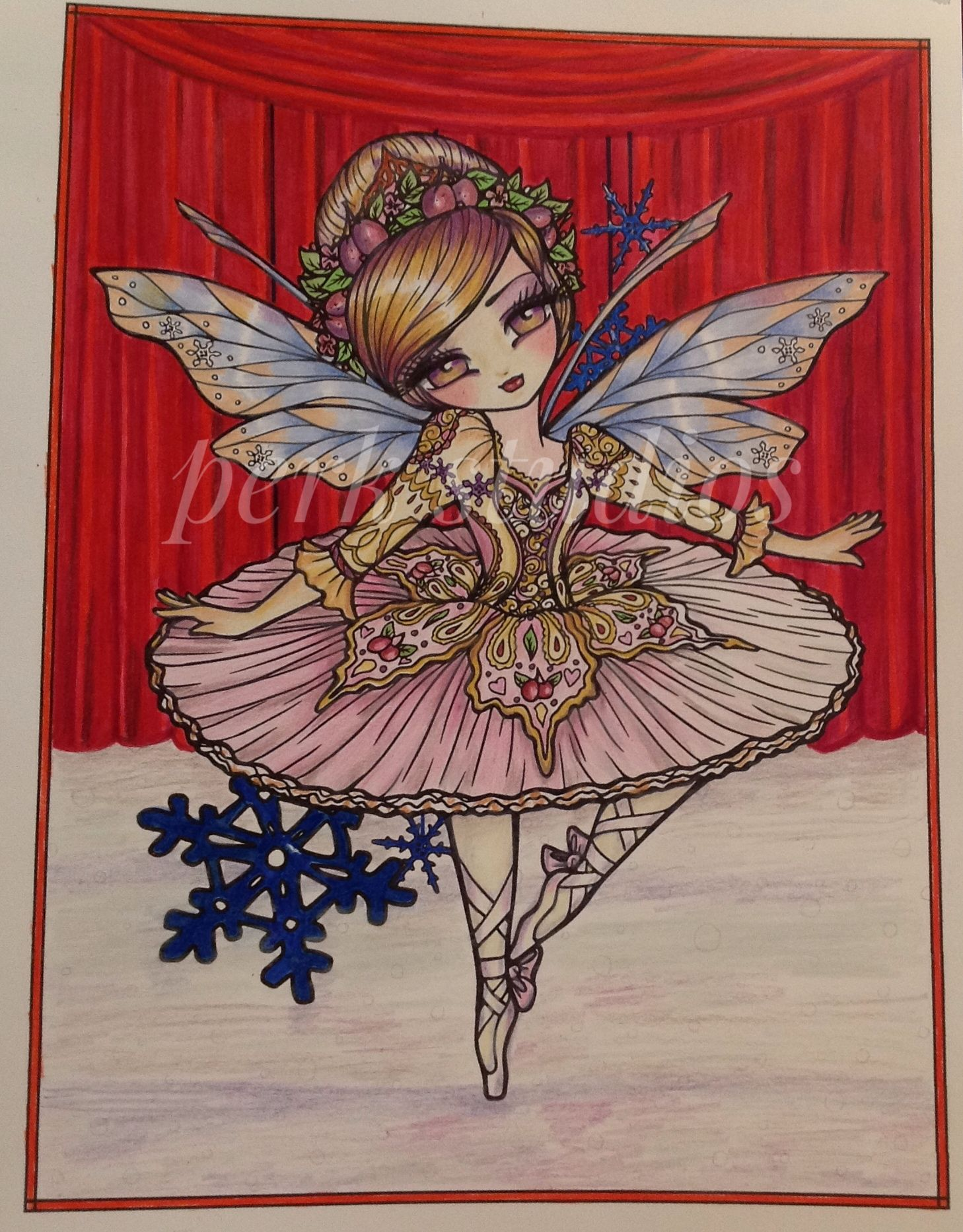 Sugar Plum Fairy Hannah Lynn A Whimsy Girl S Christmas Perk Studios Hannah Lynn Christmas Girl Christmas Coloring Books