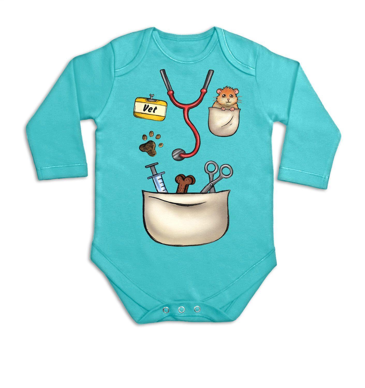Vet Costume long sleeve baby grow by BigMouthUK on Etsy https://www.etsy.com/listing/281415798/vet-costume-long-sleeve-baby-grow