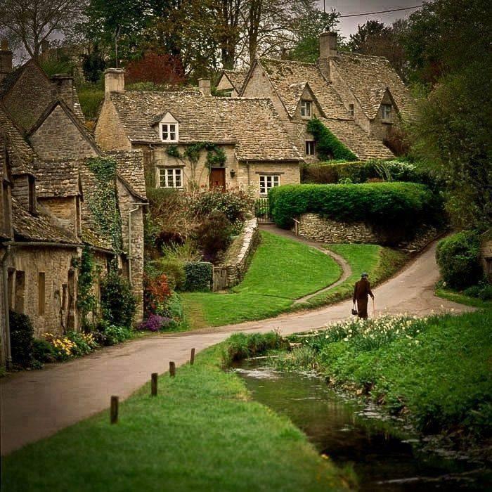 Bibury village in Gloucestershire, England